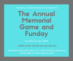 Annual Memorial Fun Day - Sunday 14th July 2019